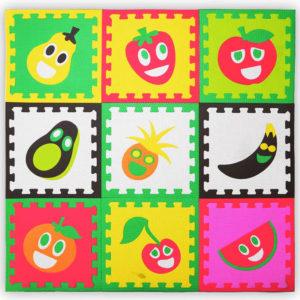 Tatame Frutas kit com 9 tatames